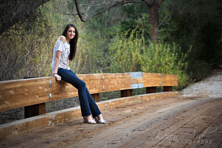 senior portrait, bridge